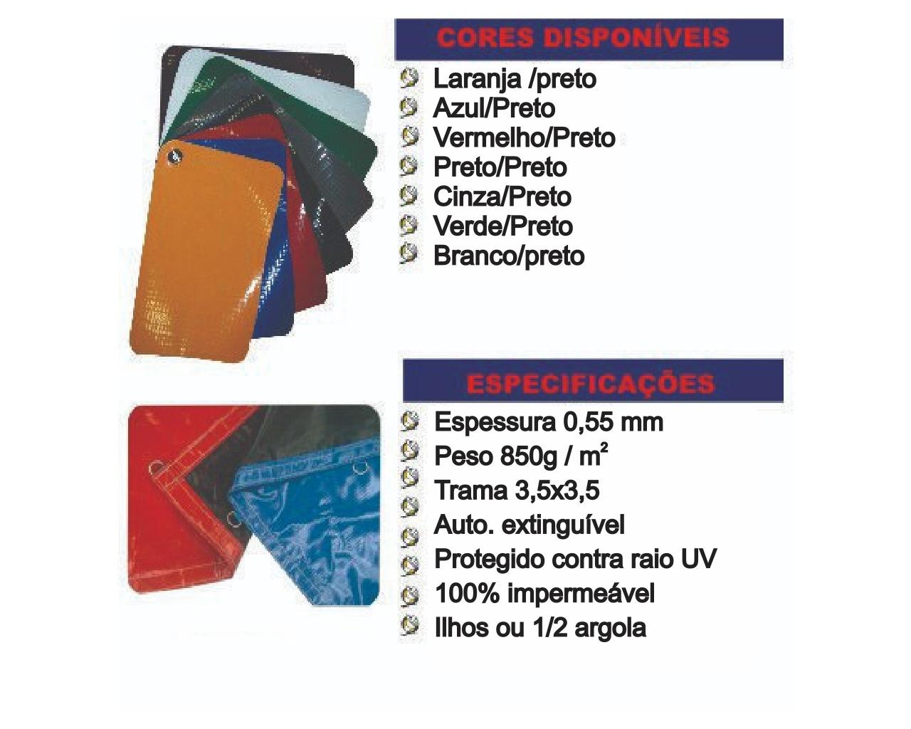 LONA DE VINIL 1000 EMBORRACHADA DUPLA-FACE